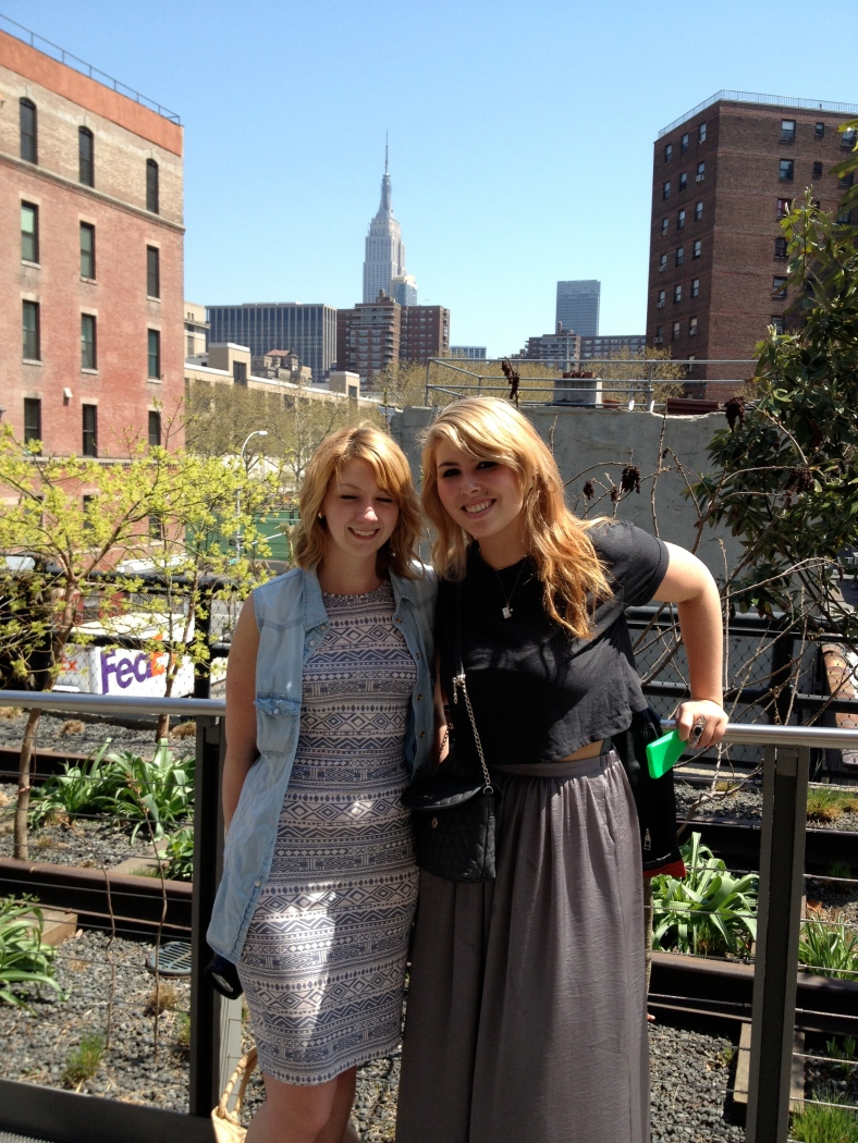 Ria Joynes and myself at The High Line. New York